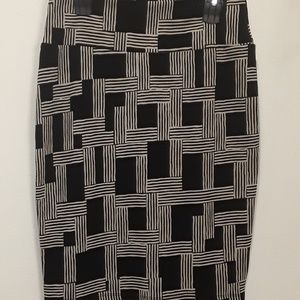 Lularoe Cassie Pencil Skirt LLR Large L Black
